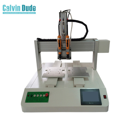 4-Axis Desktop Adsorption Double Head Double Y Automatic Screw Feeding Machine