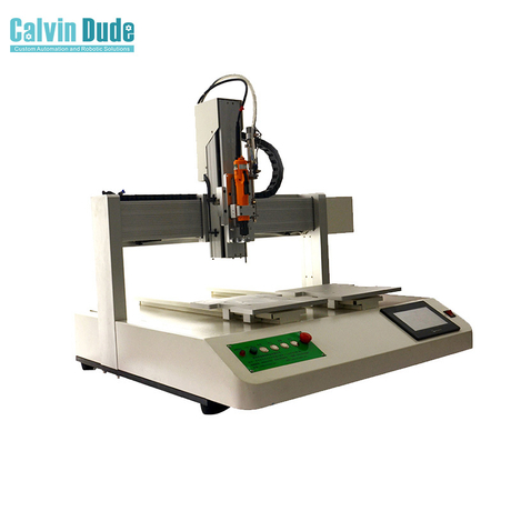 Auto screw feeder robot single screwdriver fixing screw machine two Y work stages