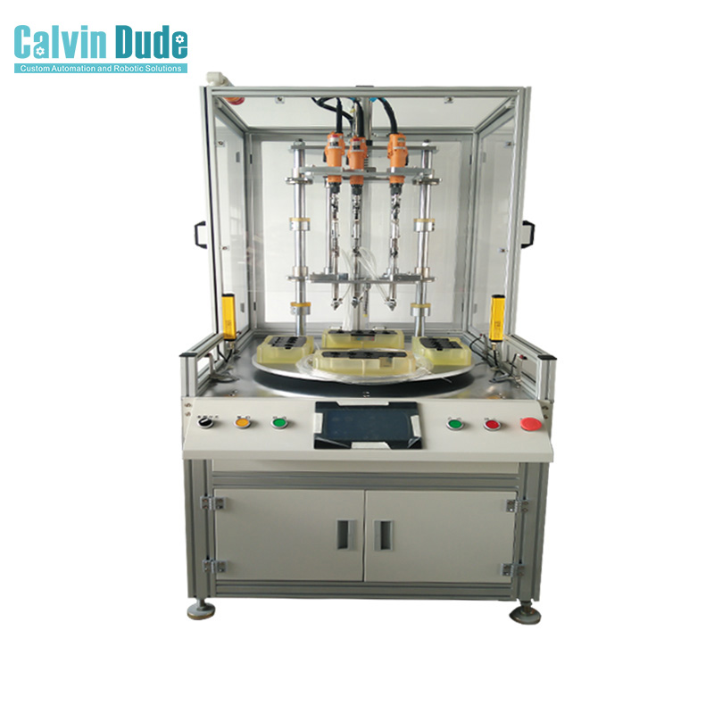 Multi axis turntable type automatic screw locking machine